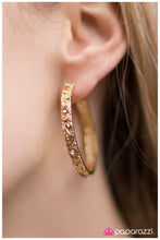 Load image into Gallery viewer, A Cause for Celebration  - Paparazzi Gold Earring - BlingbyAshleyNicole