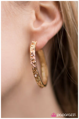 A Cause for Celebration  - Paparazzi Gold Earring - BlingbyAshleyNicole