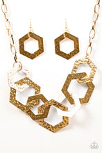 Load image into Gallery viewer, The HEX Factor - Paparazzi Gold Necklace - BlingbyAshleyNicole