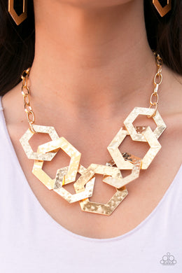 The HEX Factor - Paparazzi Gold Necklace - BlingbyAshleyNicole
