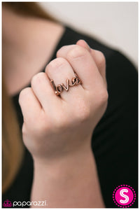 Young Love - Paparazzi Copper Ring - BlingbyAshleyNicole