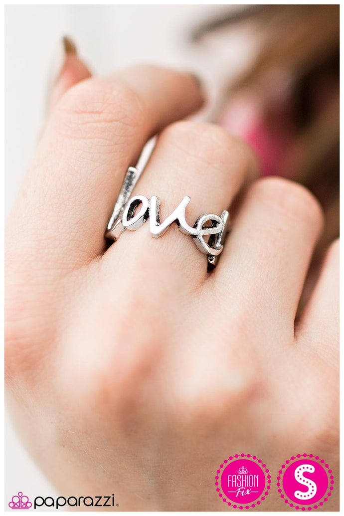 Young Love - Paparazzi Silver Ring - BlingbyAshleyNicole