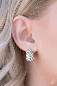 Hostess With The Mostess - Paparazzi White Post Earring - BlingbyAshleyNicole