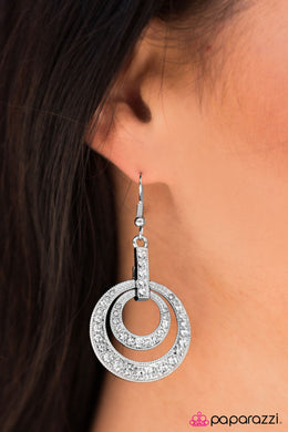 Can't Dull My Sparkle - Paparazzi White Earring - BlingbyAshleyNicole