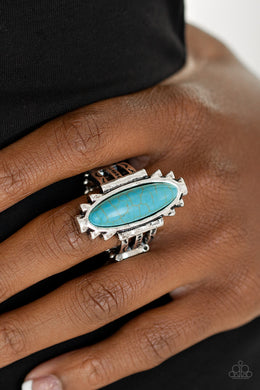 Canyon Colada - Paparazzi Blue Ring - BlingbyAshleyNicole
