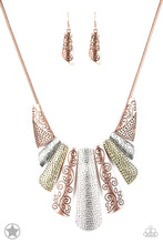 Load image into Gallery viewer, Untamed - Paparazzi Copper Blockbuster Necklace - BlingbyAshleyNicole