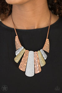 Untamed - Paparazzi Copper Blockbuster Necklace - BlingbyAshleyNicole