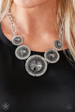 Load image into Gallery viewer, Global Glamour - Paparazzi Silver Blockbuster Necklace - BlingbyAshleyNicole