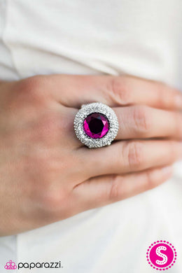 Royally Crystalline - Paparazzi Pink Ring - BlingbyAshleyNicole