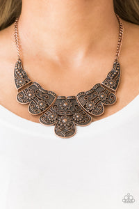 Mess With The Bull - Paparazzi Copper Necklace - BlingbyAshleyNicole