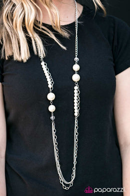 Broadway Magic - Paparazzi White Necklace - BlingbyAshleyNicole