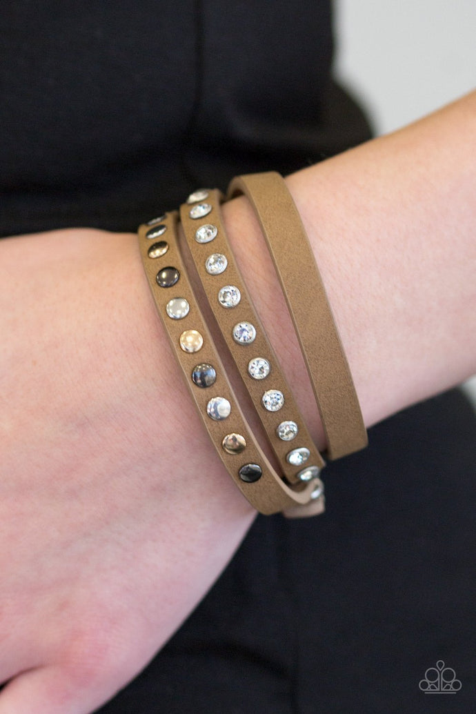 Catwalk Casual - Paparazzi Brown Bracelet - BlingbyAshleyNicole
