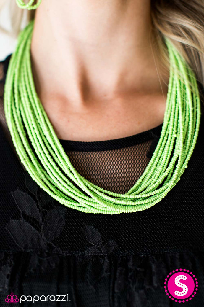 Wide Open Spaces | Paparazzi Green Necklace - BlingbyAshleyNicole