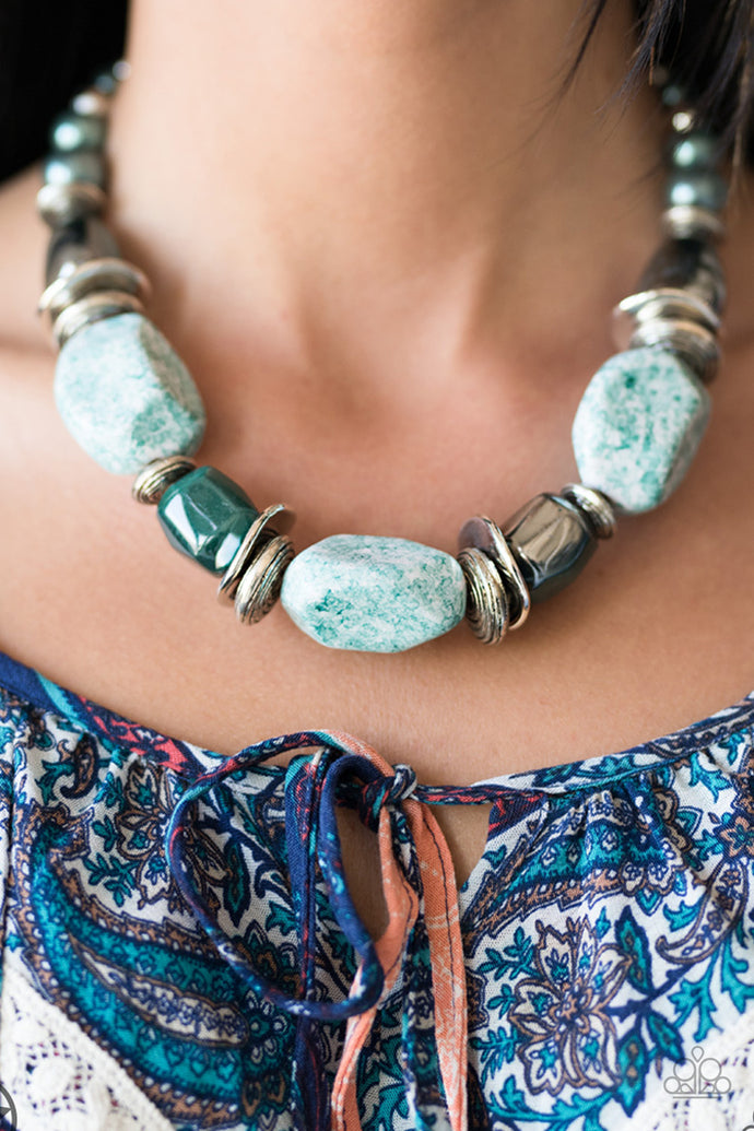 In Good Glazes - Paparazzi Blue Blockbuster Necklace - BlingbyAshleyNicole