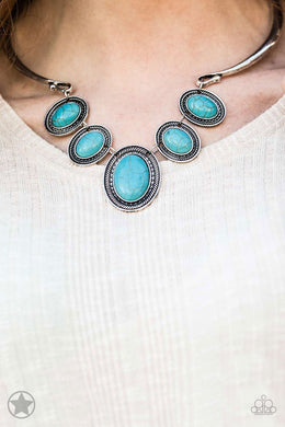 River Ride - Paparazzi Blue Necklace - BlingbyAshleyNicole