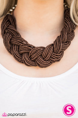 The Great Outback - Paparazzi Brown Necklace - BlingbyAshleyNicole