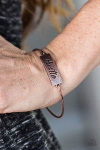 Hustle Hard - Paparazzi Copper Bracelet - BlingbyAshleyNicole