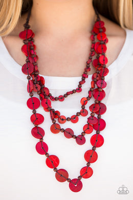 Fiji Flair - Paparazzi Red Necklace - BlingbyAshleyNicole