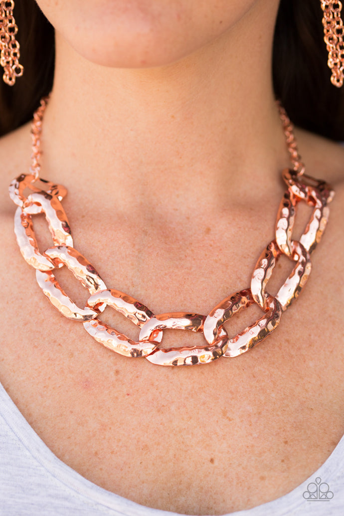 La Vida Loca - Paparazzi Copper Necklace - BlingbyAshleyNicole