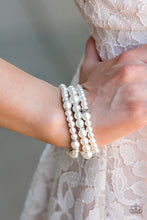 Load image into Gallery viewer, Money Drop - Paparazzi White Bracelet - BlingbyAshleyNicole