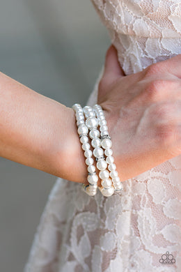 Money Drop - Paparazzi White Bracelet - BlingbyAshleyNicole