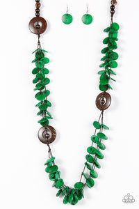 Greetings From Tahiti - Paparazzi Green Necklace - BlingbyAshleyNicole