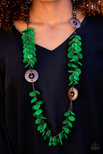 Load image into Gallery viewer, Greetings From Tahiti - Paparazzi Green Necklace - BlingbyAshleyNicole
