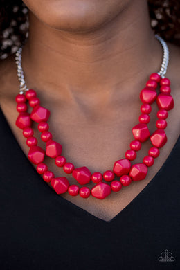 Galapagos Glam - Paparazzi Red Necklace - BlingbyAshleyNicole