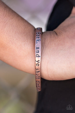 It Shall Be Given - Paparazzi Copper Bracelet - BlingbyAshleyNicole