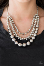 Load image into Gallery viewer, Beaded Beauty - Paparazzi Silver Necklace - BlingbyAshleyNicole