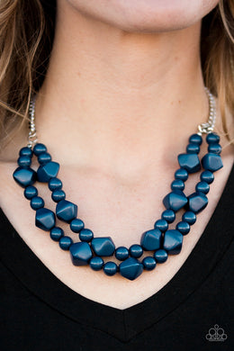 Galapagos Glam - Paparazzi Blue Necklace - BlingbyAshleyNicole