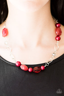 Beam Away - Paparazzi Red Necklace - BlingbyAshleyNicole
