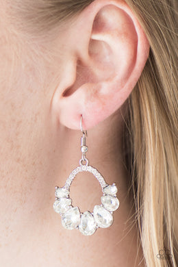 Kissable Shimmer - White Earring - BlingbyAshleyNicole