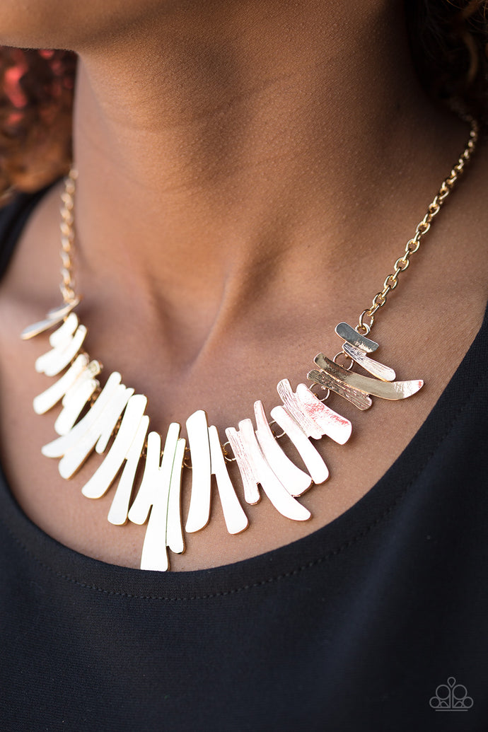 Hold Some, BOLD Some - Paparazzi Gold Necklace - BlingbyAshleyNicole