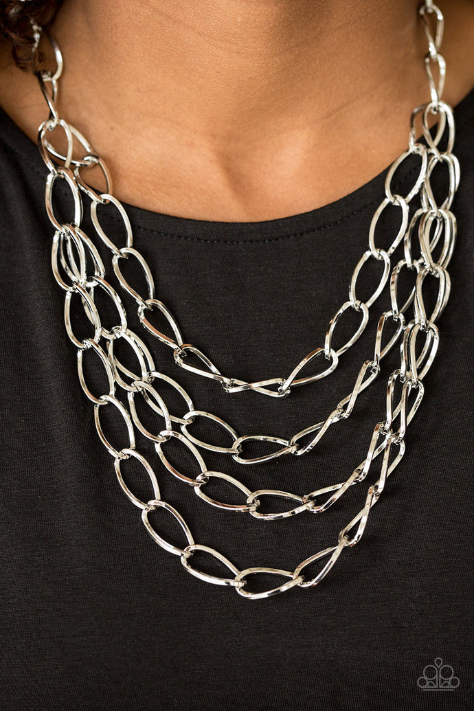 Chain Reaction - Silver Necklace - BlingbyAshleyNicole