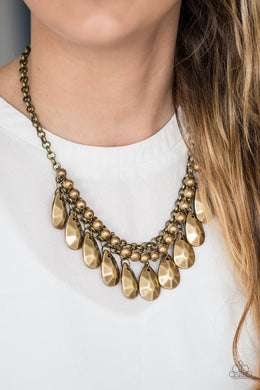 La DIVA Loca - Paparazzi Brass Necklace - BlingbyAshleyNicole