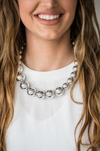 Load image into Gallery viewer, Glamour Glare - Paparazzi Silver Necklace - BlingbyAshleyNicole