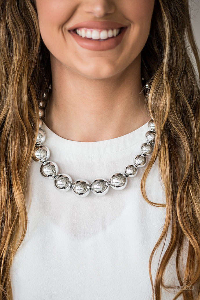Glamour Glare - Paparazzi Silver Necklace - BlingbyAshleyNicole