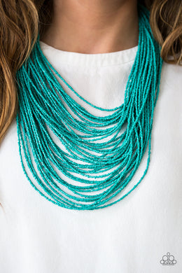 Ice Storm - Paparazzi Blue Necklace - BlingbyAshleyNicole