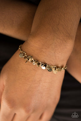 Shimmer Train - Brass Bracelet - BlingbyAshleyNicole