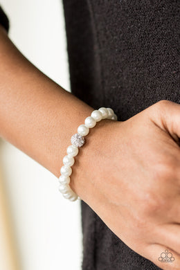 I'm Here For The Bride - White Bracelet - BlingbyAshleyNicole