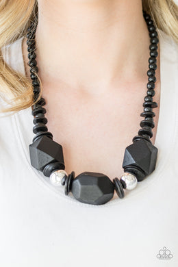Costa Maya Majesty - Black Necklace - BlingbyAshleyNicole