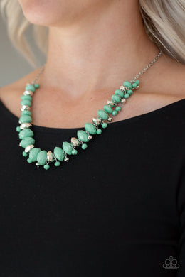 BRAGs To Riches - Paparazzi Green Necklace - BlingbyAshleyNicole