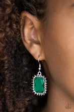 Load image into Gallery viewer, Downtown Dapper - Paparazzi Green Earrings - BlingbyAshleyNicole