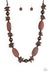 Carefree Cococay - Brown Necklace - BlingbyAshleyNicole