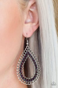 Mechanical Marvel - Paparazzi Purple Earrings - BlingbyAshleyNicole