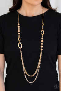 Modern Girl Glam - Paparazzi Gold Necklace - BlingbyAshleyNicole