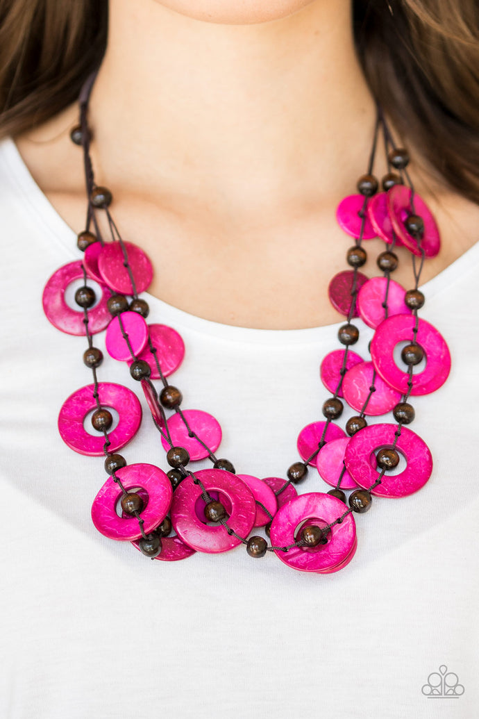 Catalina Coastin - Pink Necklace - BlingbyAshleyNicole