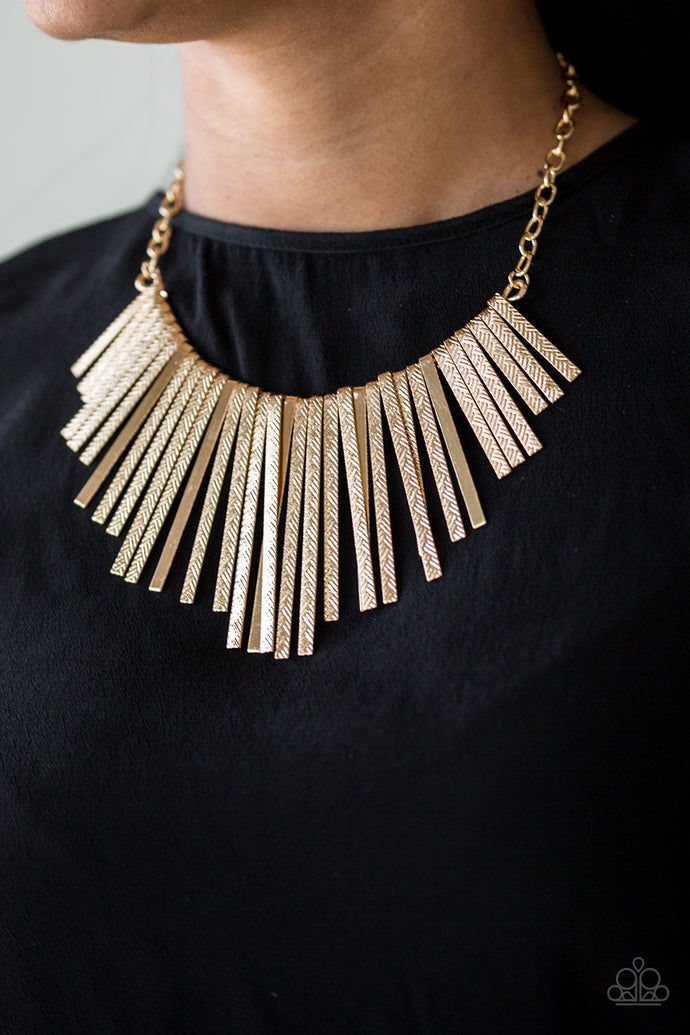 Welcome To The Pack - Paparazzi Gold Necklace - BlingbyAshleyNicole