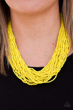 Load image into Gallery viewer, The Show Must CONGO On - Paparazzi Yellow Necklace - BlingbyAshleyNicole